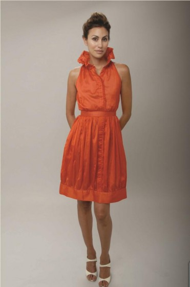 Image of Debut the Christopher Collins Spring Collection 2010 orange dress