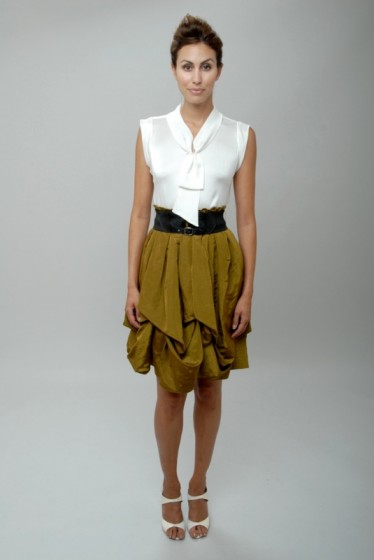 Image of Debut the Christopher Collins Spring Collection 2010 olive skirt