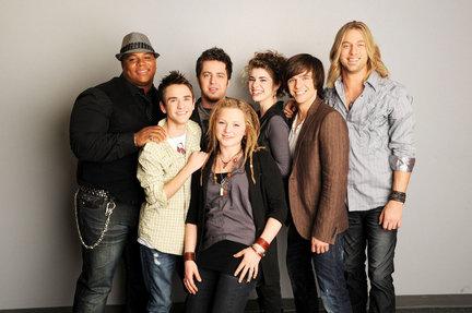image of American Idol contestants 2010