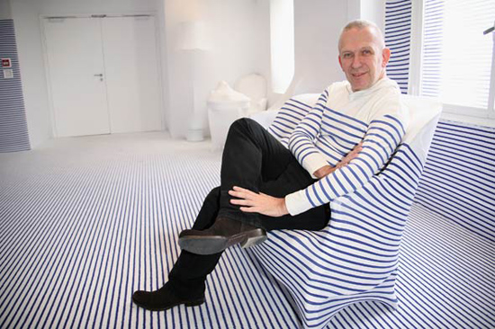 img of Jean Paul Gaultier Elle Decoration Suite Interior Designs stripes