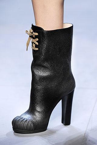 image of fendi black leather boot fall 2010
