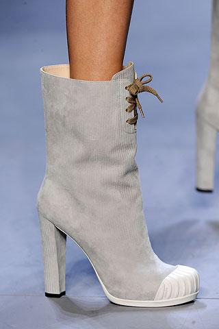 image of fendi grey boot fall 2010