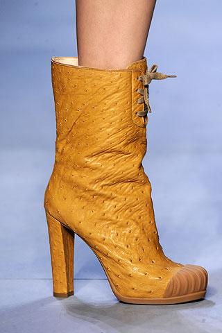 image of fendi tan leather boot fall 2010