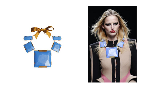 Ana Locking Fall/Winter 2010-2011 Blue Stone Maxi Necklace