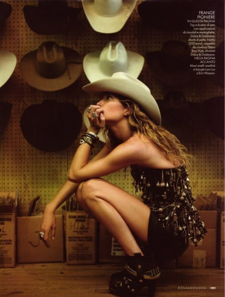 image of Erin Wasson cowboy hat