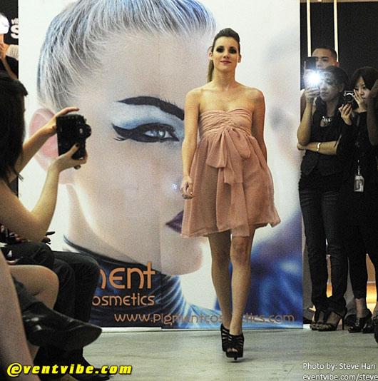 image of Designer Alyssa Nicole at SFFW 2010 pink dress