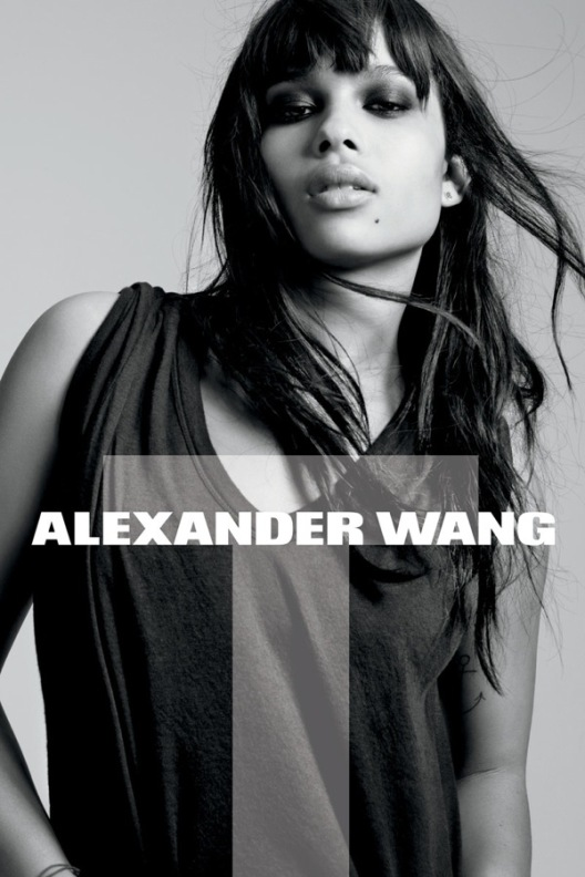image of Zoe Kravitz for Alexander Wang closeup
