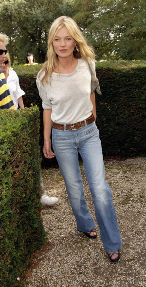 Kate Moss in Topshop denim