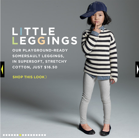 image of jcrew kids leggings