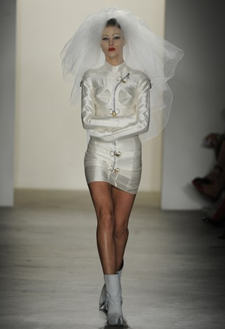 image of jeremy scott recycled wedding attire