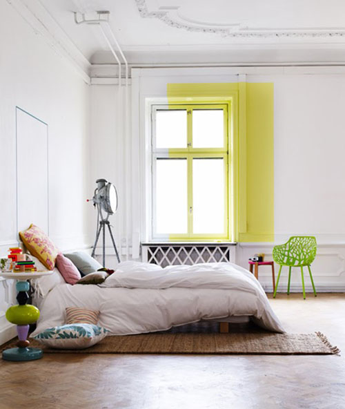 image of colorblock bedroom