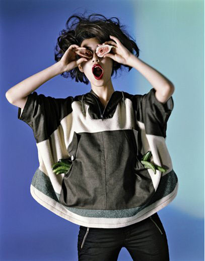 image of Kiko Mizuhara in NYC Barneys campaign