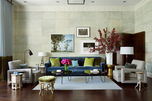 Image Of Mismatch Art Living Room