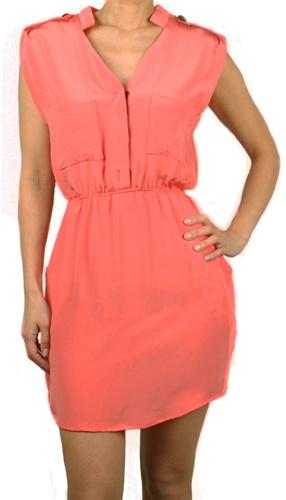 Amanda Christine Coral Dress