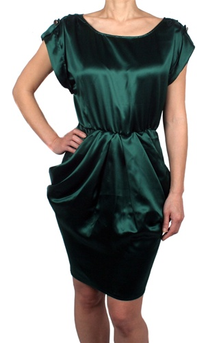 Amanda Christine Green Silk Dress