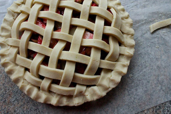 image of lattice pie top