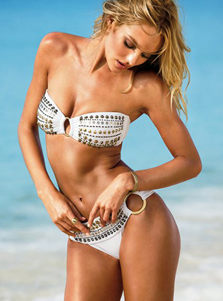 image of Victorias Secret embellished swimsuit