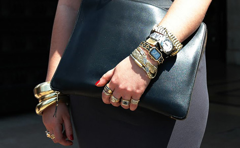 image of layered bracelets
