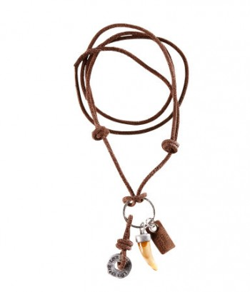 image of hm leather charm necklace