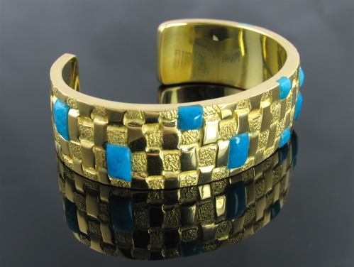 image of 18 kt Basketweave bracelet by Ben Nighthorse