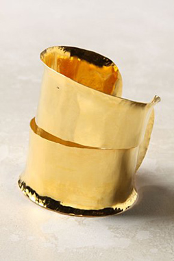 image of Clean Break Gold Cuff Anthropologie