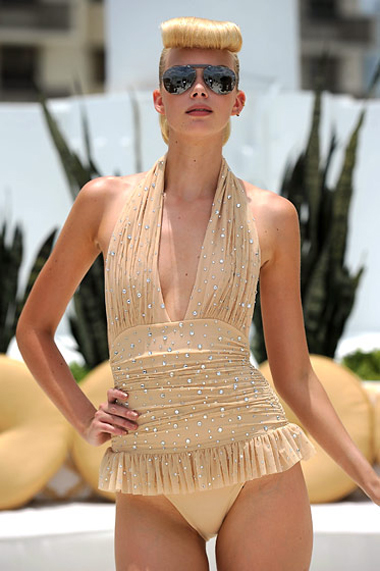image of Crystal Swim Suit Norma Kamali Swimwear MBFW Miami Swim 2012