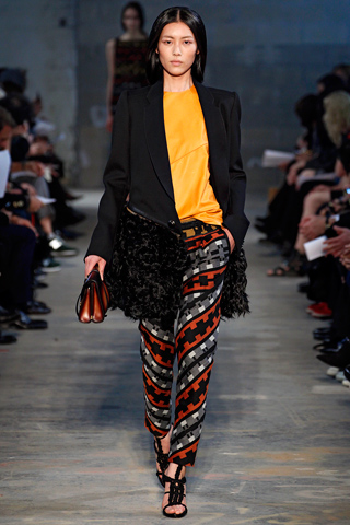 Proenza Schoeuler Fall 2011 RTW -Liu Wen- Navajo designs-Laurel Schaffer - Downright Red
