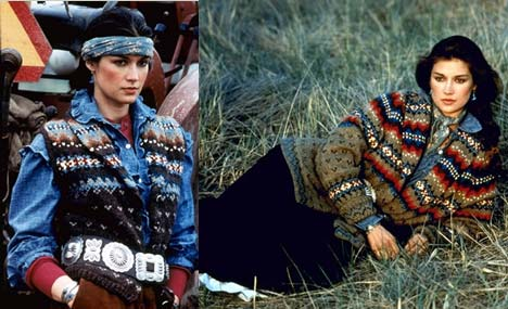 Ralph Lauren 1981 fall - Navajo style - Laurel Schaffer - Downright Red