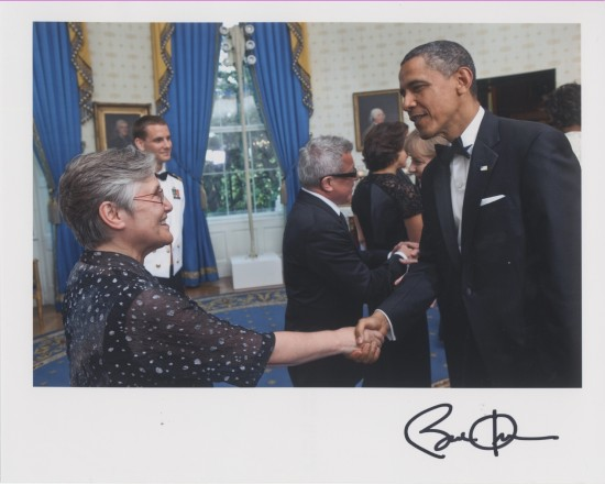 image of Nina Libeskind and the President