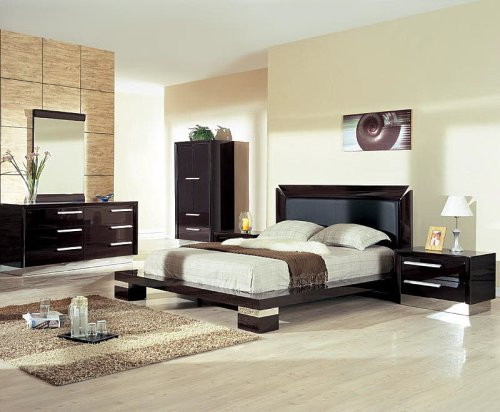 image of dark pine bedroom furniture