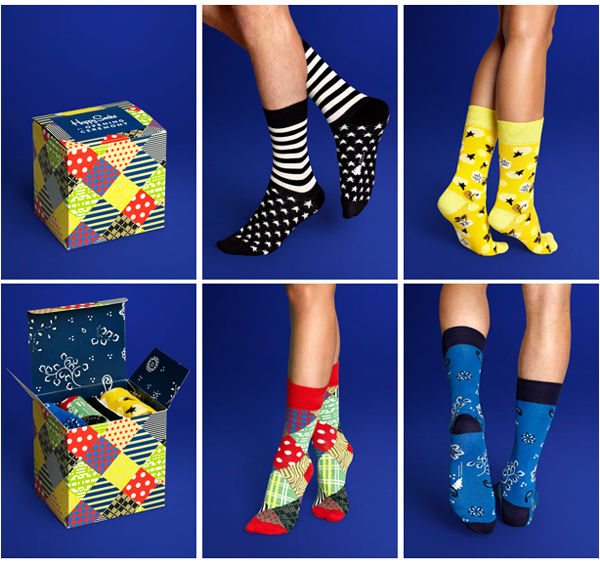 image of happy socks by opening ceremony