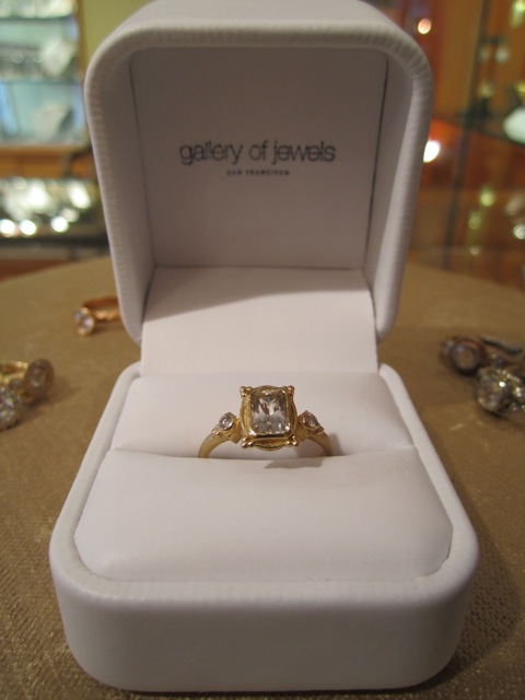 image of Gallery of Jewels Gold Engagement Ring