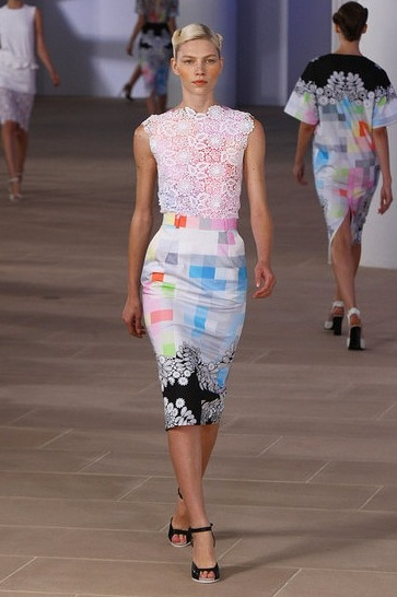 image of Preen Spring 2012 colorblock dress