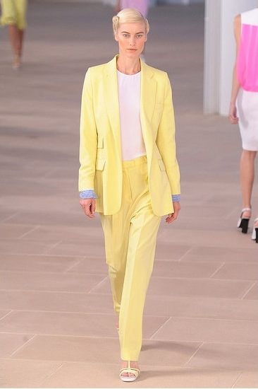 image of Preen Spring 2012 yellow pantsuit