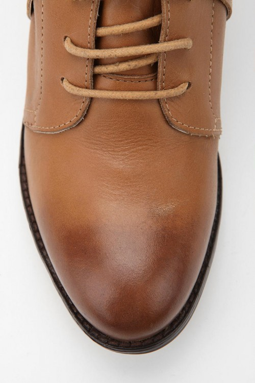 image of ecote leather booties toe