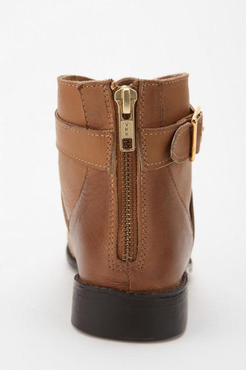 image of ecote leather zip booties