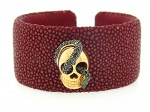 image of Atelier Minyon Black Diamond Skull Cuff
