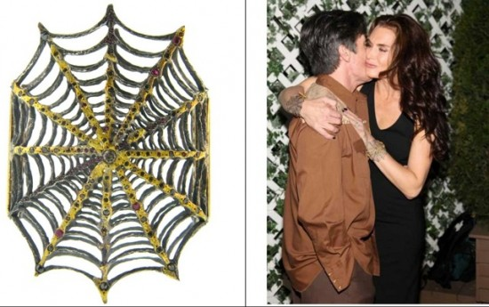 image of Brooke Shields in Aterlier Minyon Avant gard jewelry