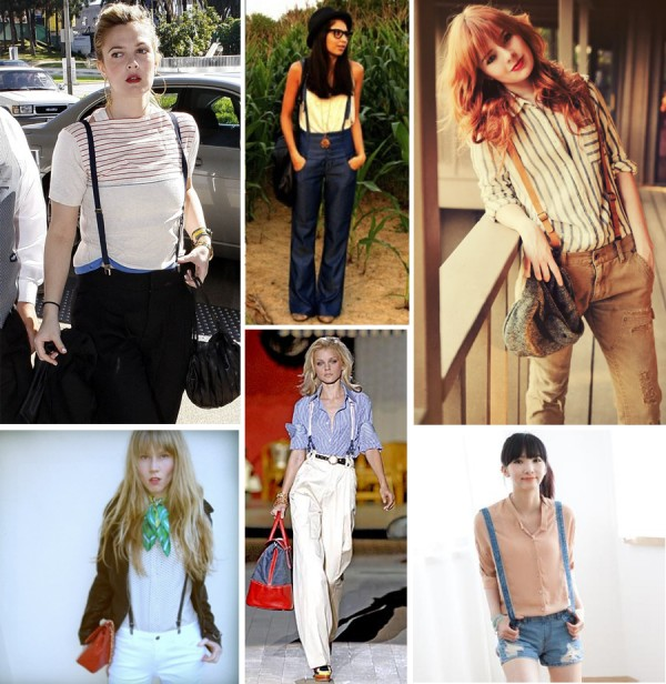 image of womens suspender fashion trend