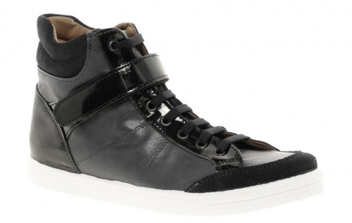 image of ASOS DOODLE Leather High Tops