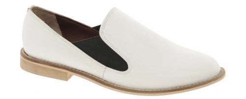 image of ASOS MOTOWN Leather Flat Shoes