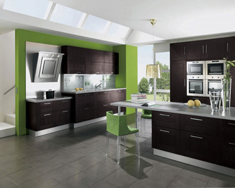 Stylebust kitchen for Green and white kitchen designs