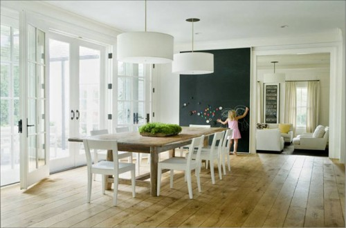 image of dining room with french doors
