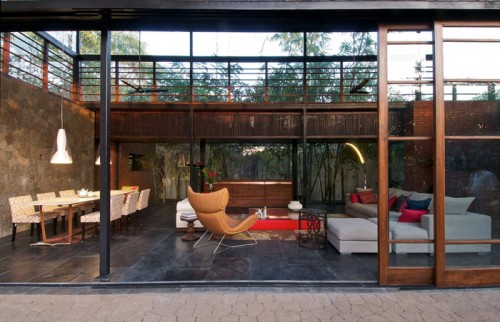image of house with sliding doors