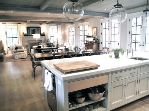 image of kitchen with french doors