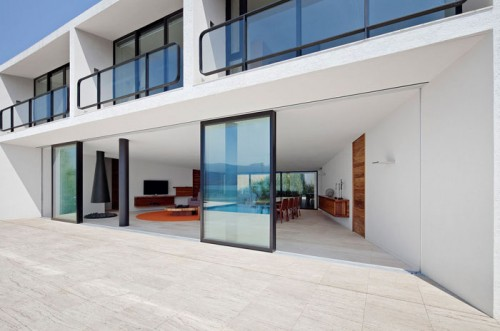 image of sliding doors on house