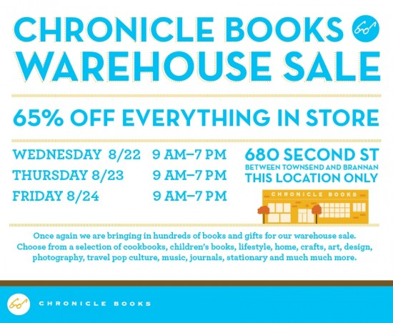image of Chronicle Books Warehouse Sale Flyer
