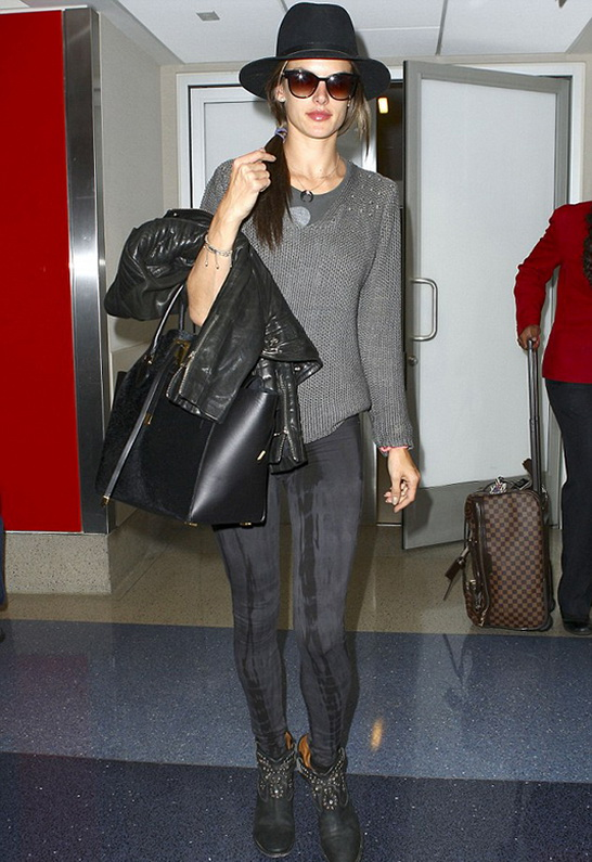 Alessandra Ambrosio wearing Denimocracy French Terry Anarchy Jean