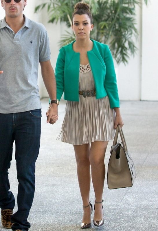 Kourtney Kardashian wearing Monika Chiang Zinc D'orsday Pump