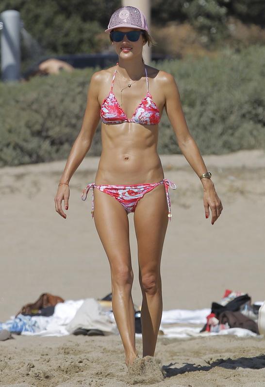 Alessandra Ambrosio wearing Pily Q Scarlet Serpentine Bikini
